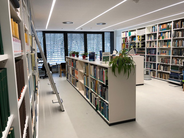 Shelves in the AWI library