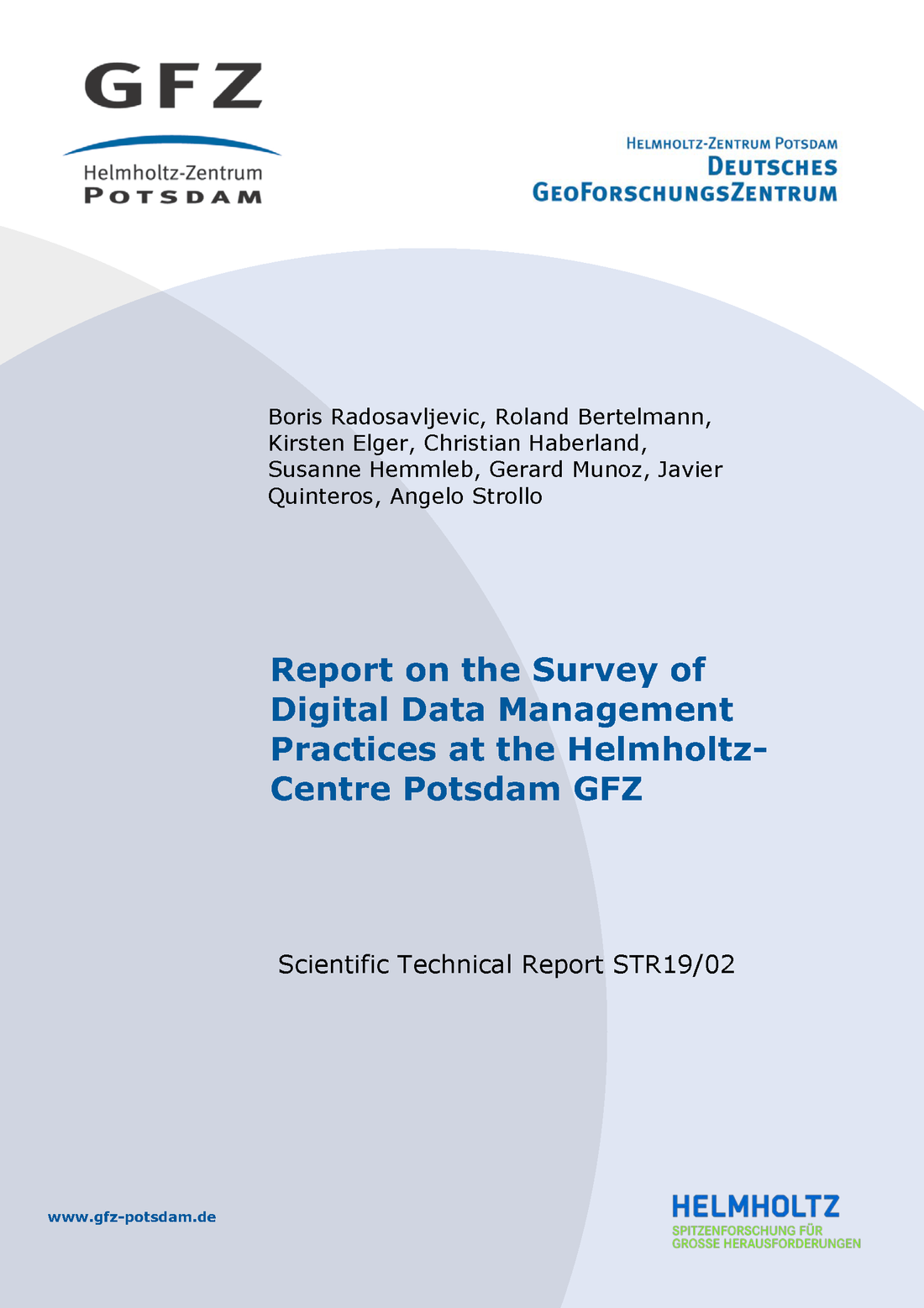 Cover eines Scientific Technical Report